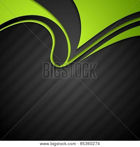 Vibrant corporate abstract background with wavy pattern. Vector design