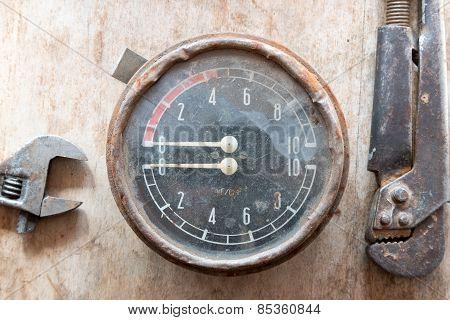 Manometer. Steampunk Background.