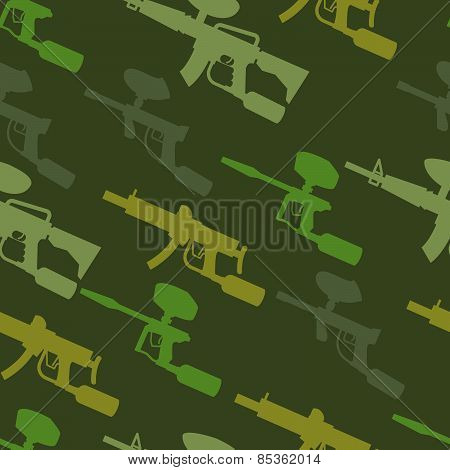 paintball guns seamless pattern