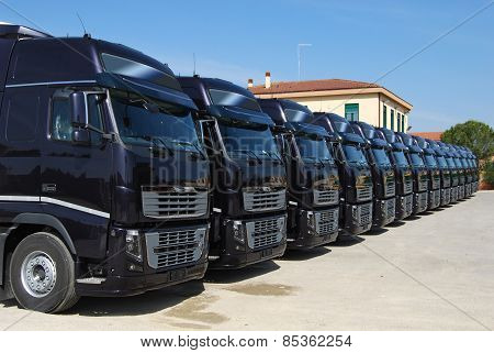 Corporate Fleet Trucks Lined