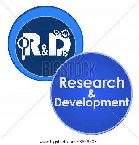 R And D - Research And Development Two Circles