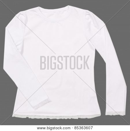 Girl's blouse isolated on gray background