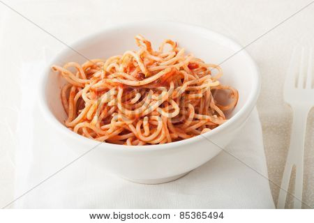 Spagetti With Tomato Sauce