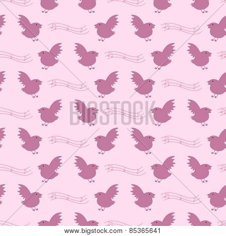 Birds And Notes Pattern