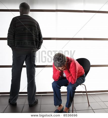 Elderly Couple in Dispute / Desperate