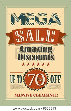Sale Poster Vector Typography Design