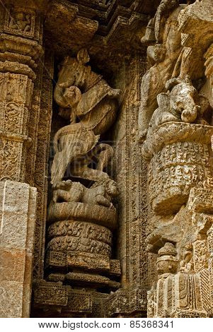 Wall Sculpture of Sun Temple