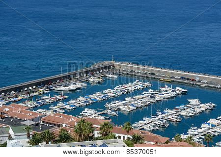 The Marina In Los Gigantes, Tenerife Island, Canary Islands, Spain.