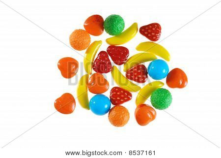 assorted hard fruit candy