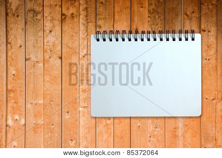 Opened-notebook On Wood Pattern