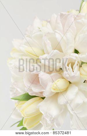 Pastel Tulip Wedding Bouquet