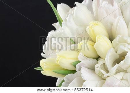 Pastel Bouquet With Black Background