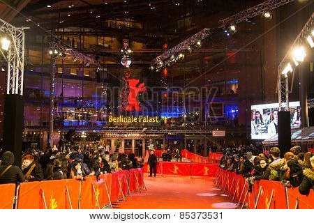BERLIN, GERMANY - FEBRUARY 05: 65th Berlinale International Film Festival at Berlinale Palace on February 5, 2015 in Berlin, Germany