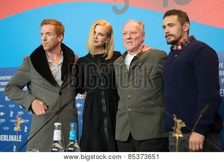 BERLIN, GERMANY - FEBRUARY 06: Nicole Kidman, Damian Lewis, James Franco, Werner Herzog, press conference during the 65th Film Festival at Hyatt Hotel February 6, 2015 in Berlin, Germany.