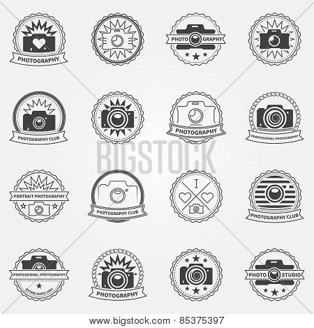 Photography logo or labels templates