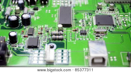 Printed Circuit Board With Radio Parts
