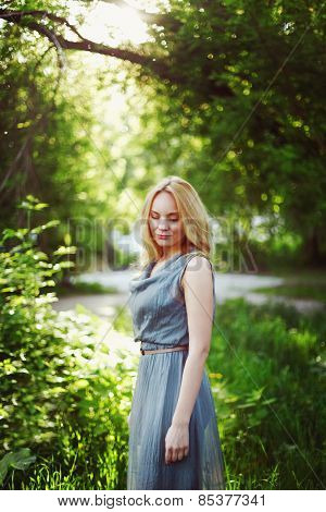 Young Beautiful Blonde Woman Portrait