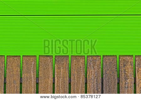 Abstract Background Of Metal And Wood