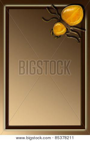 brown background with decorative spider