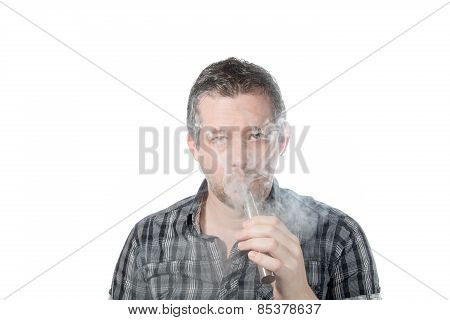 Man Smoking Ecigarette