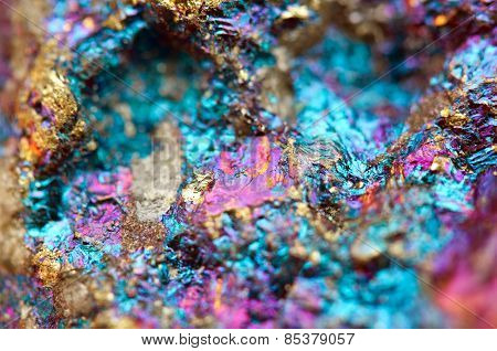 Bornite, Also Known As Peacock Ore, Is A Sulfide Mineral