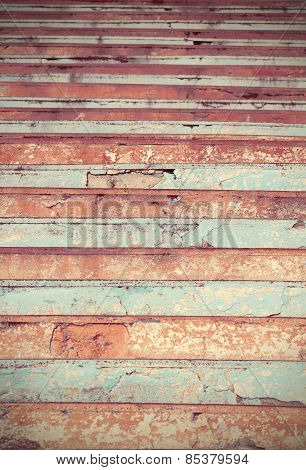 Colored Cracked Stairs.useful As Background