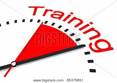 Clock With Red Seconds Hand Area Training Illustration