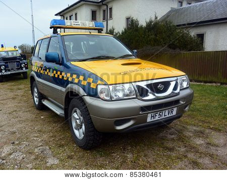 Coastguard vehicles at Bridlington East Yorkshire