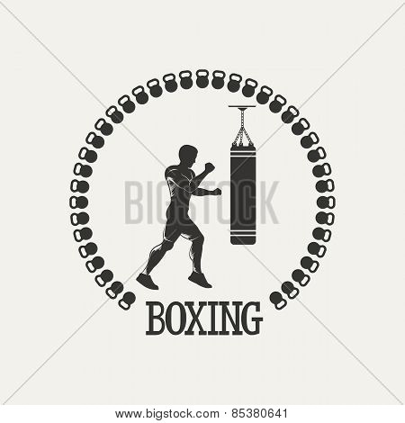 Cross training boxing logo