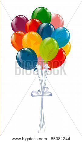Flying Balloons Isolated On White.flying Balloons Isolated On White.flying Balloons Isolated On Whit