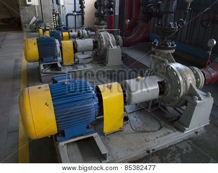Water Pump With Large Electric Motors