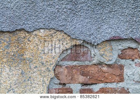 Texture Representing An Old Damaged Brick Wall