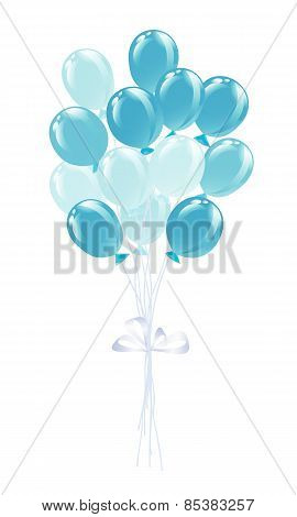 Bunch of balloons in traditional colors of Bavaria.