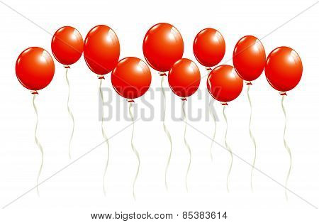 Flying Red Balloons