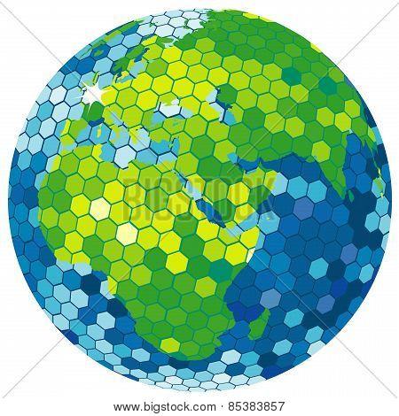 Earth Globe Disco Ball