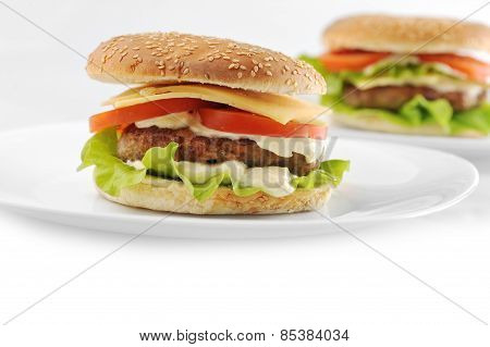 Hamburger With Cutlet