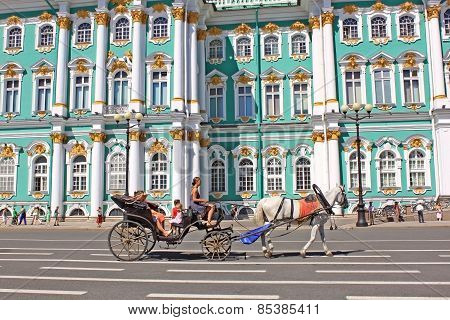 Converted Coach Near Hermitage Museum, Russia