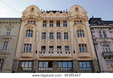 Art Nouveau Facade Of A Bank Building, Bratislava