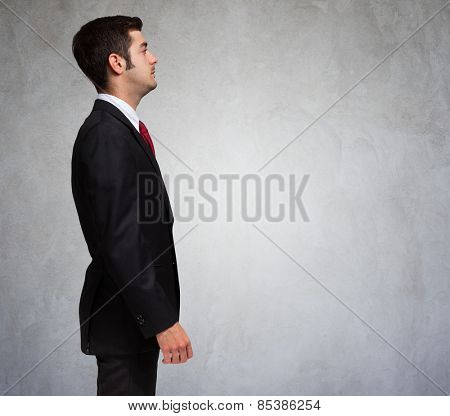 Lateral portrait of a business man
