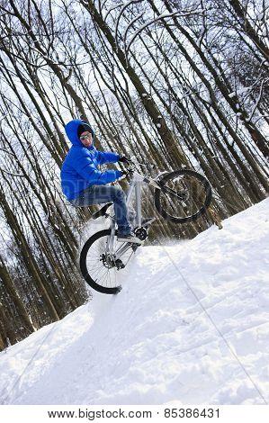 Bicyclist jump