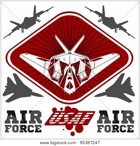 US Air Force - Military Design. vector illustration.