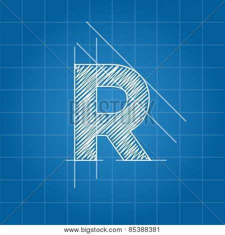 R letter architectural plan