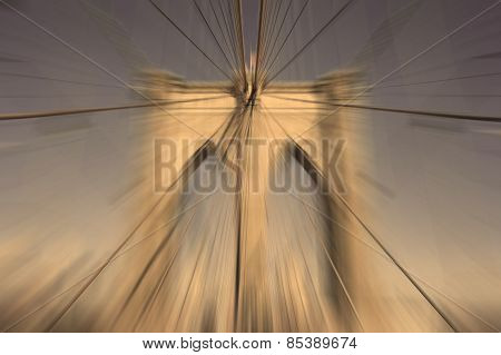Abstract Blur Background Brooklyn Bridge New York City