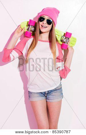 Happy Skater Girl.