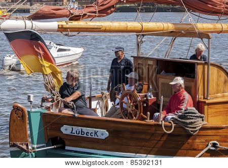 The Crew Of The Yacht Lübeck, During Sail Szczecin