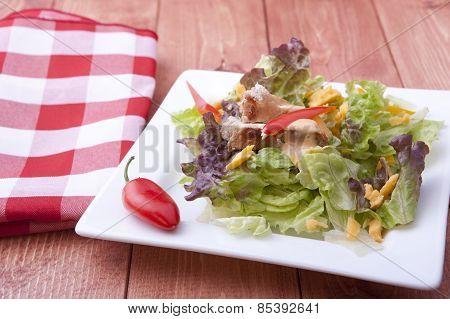 Salad And A Napkin.