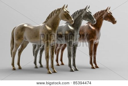 Horses - Metal