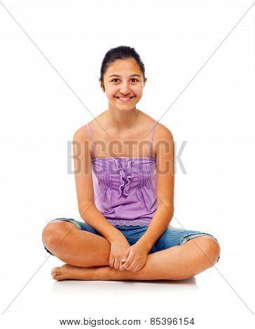 Sitting Teenage Girl