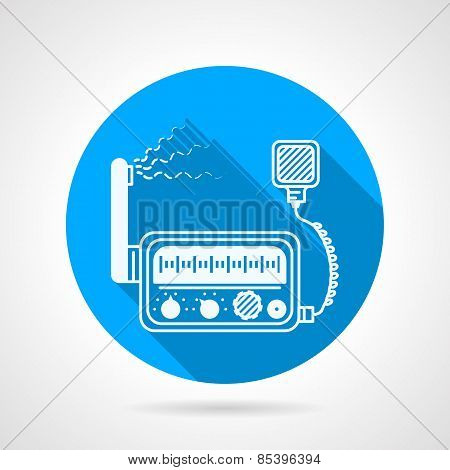 VHF radio station round vector icon