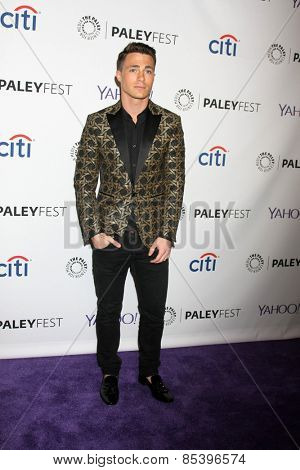 LOS ANGELES - MAR 14:  Colton Haynes at the PaleyFEST LA 2015 -